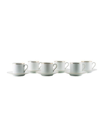 Tiffany & Co. Set of 12 Demitasse Cup & Saucers None
