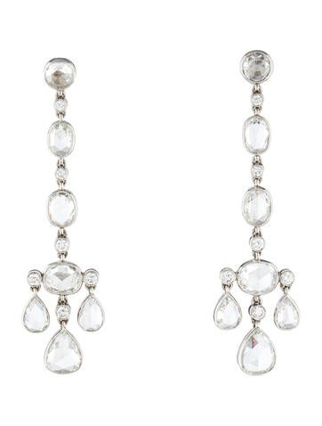 Tiffany & Co. Platinum Diamond Cobblestone Earrings