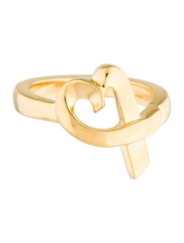 Tiffany & Co. 18K Loving Heart Ring