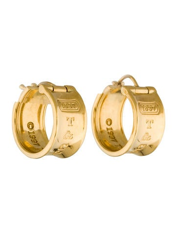 Tiffany & Co. 18K 1837 Hoop Earrings