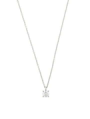 Tiffany & Co. Solitaire Diamond Pendant Necklace