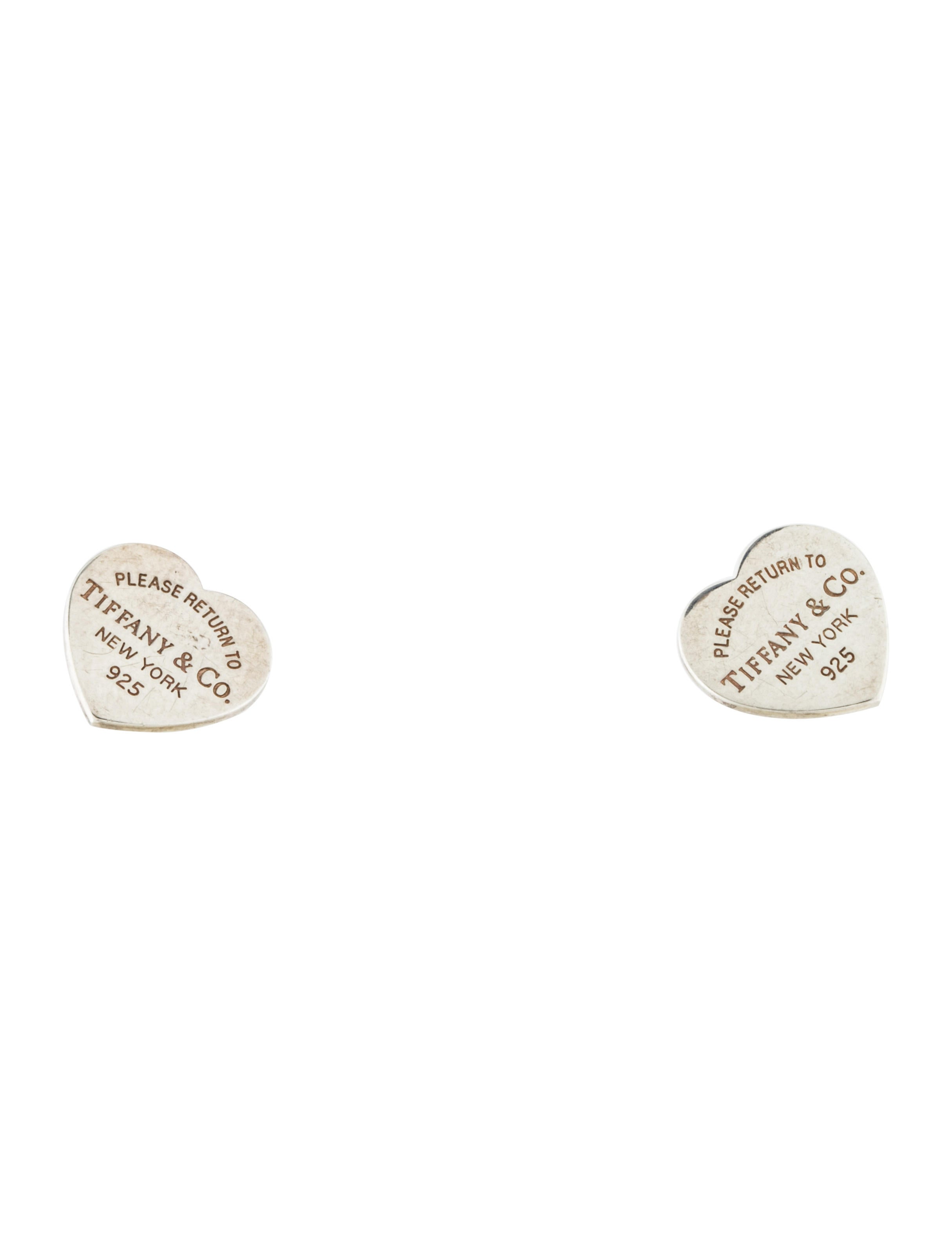 Tiffany Amp Co Return To Tiffany Heart Stud Earrings