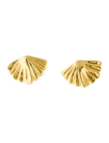 Tiffany & Co. 18K Shell Stud Earrings