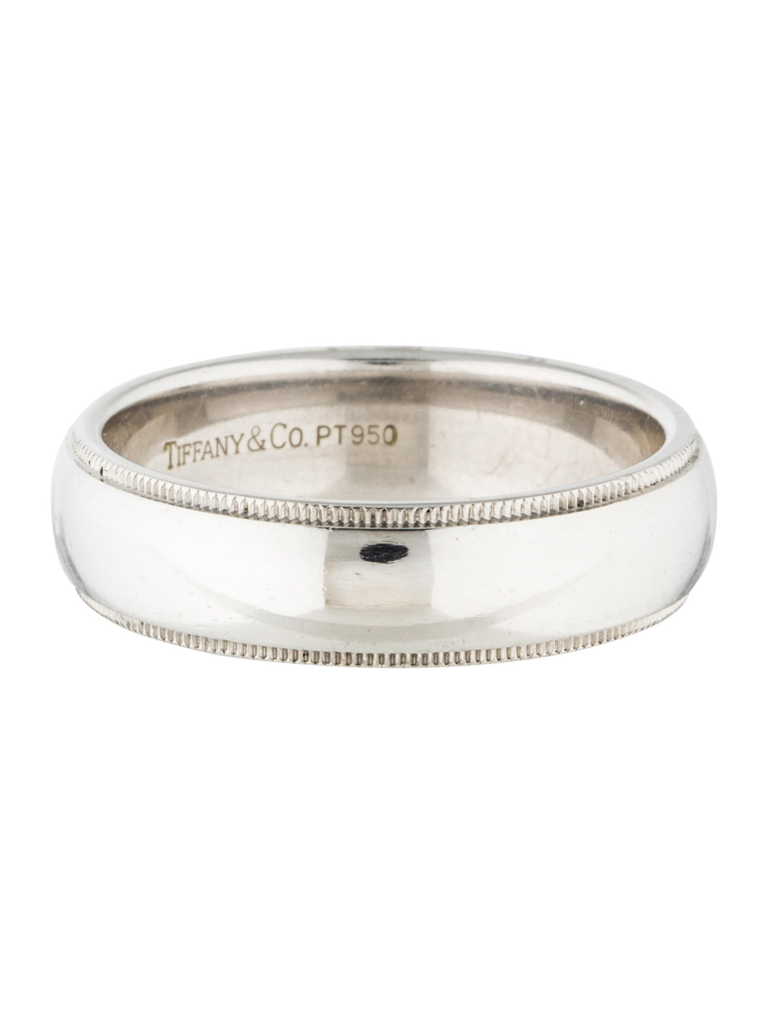 co platinum milgrain wedding band rings