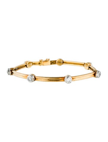 Tiffany & Co. Two-Tone Bezel Set Diamond Station Bracelet