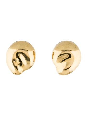 Tiffany & Co. 18K Large Bean Earrings