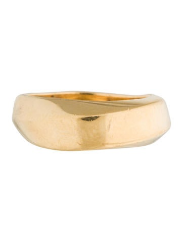 Tiffany & Co. 18K Squared Twist Band