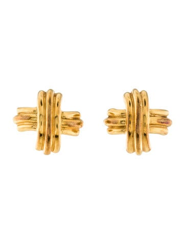 Tiffany & Co. Signature X Ear Clip Earrings