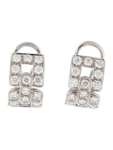 Tiffany & Co. Diamond Deco Ear Clip Earrings