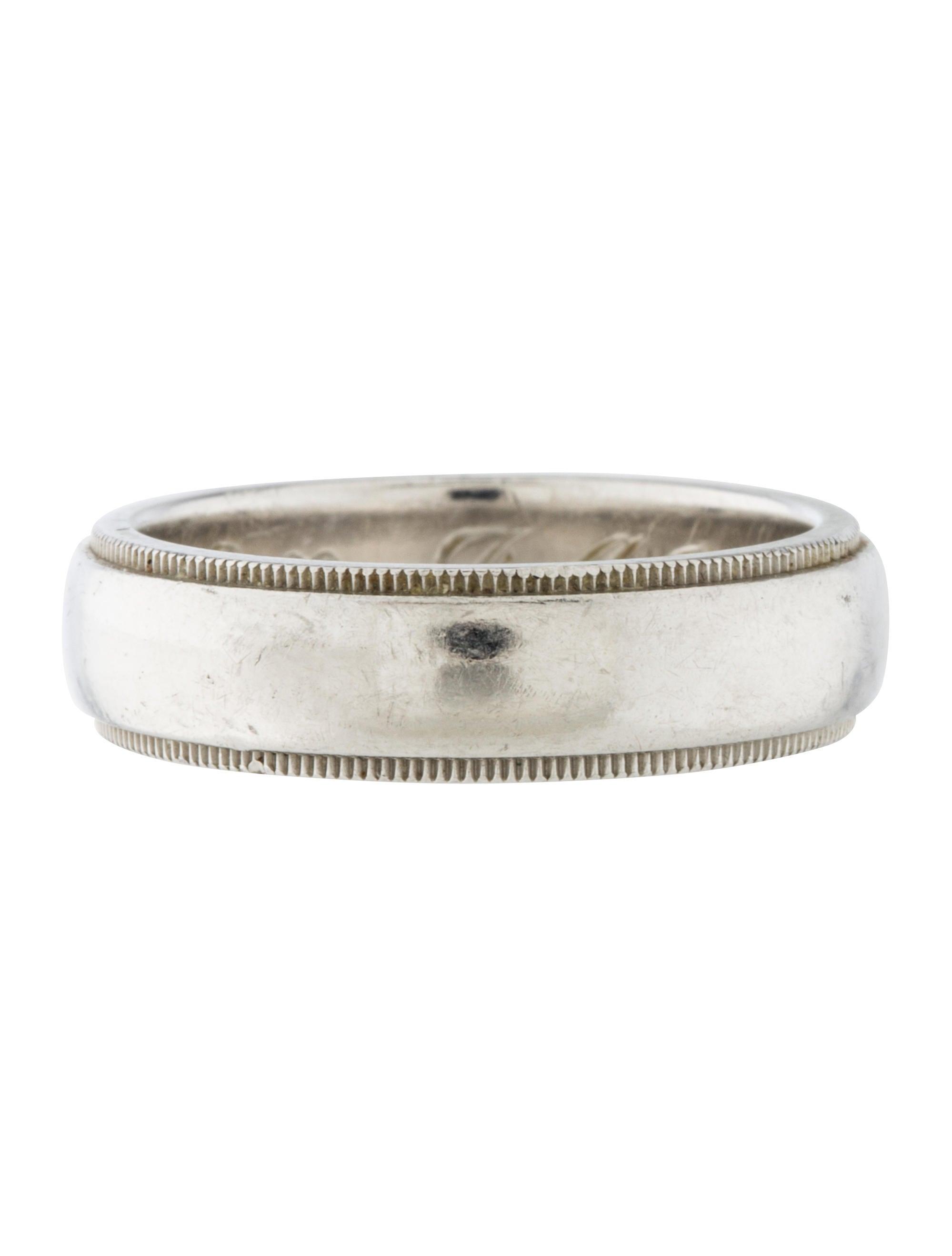051ccc370 Tiffany & Co. Classic Milgrain Wedding Band Ring - Rings - TIF50725 ...