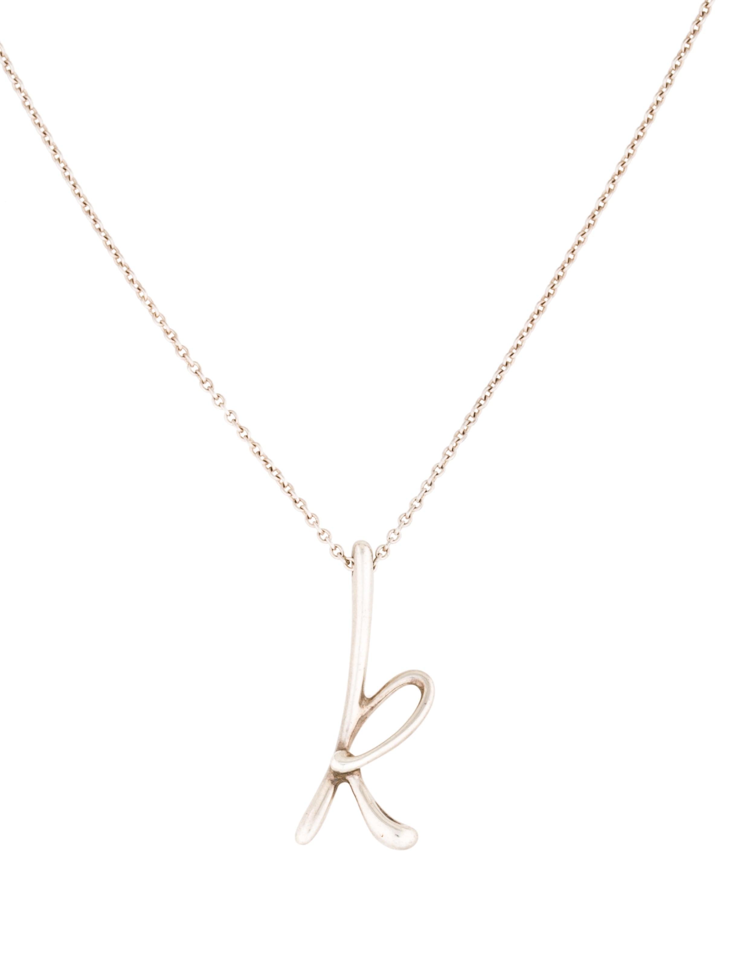 0968d84db Tiffany Co Letter 39k39 Pendant Necklace Necklaces