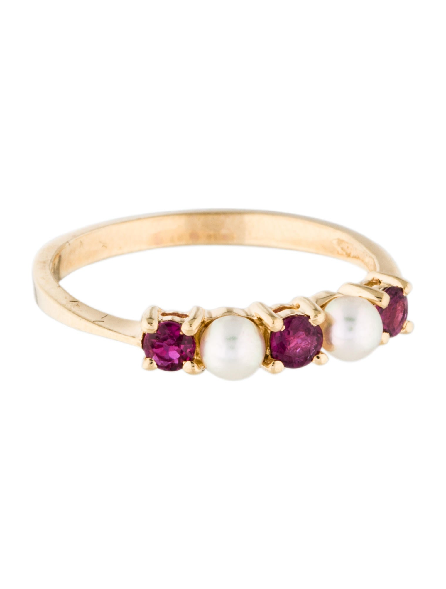 Tiffany Amp Co 14k Ruby Amp Pearl Ring Rings Tif50856