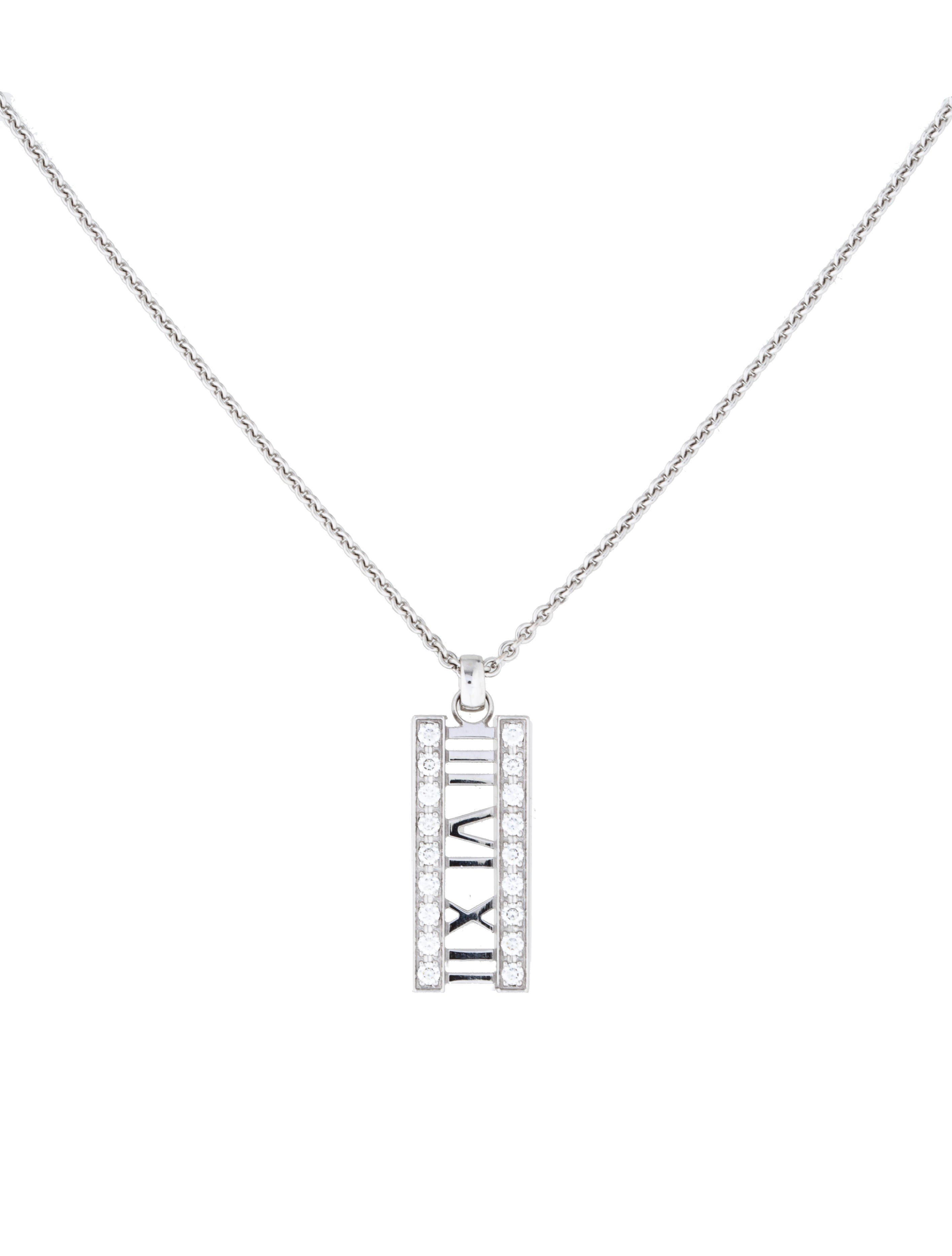 f9f187150 Tiffany & Co. 18K Diamond Atlas Pendant Necklace - Necklaces ...