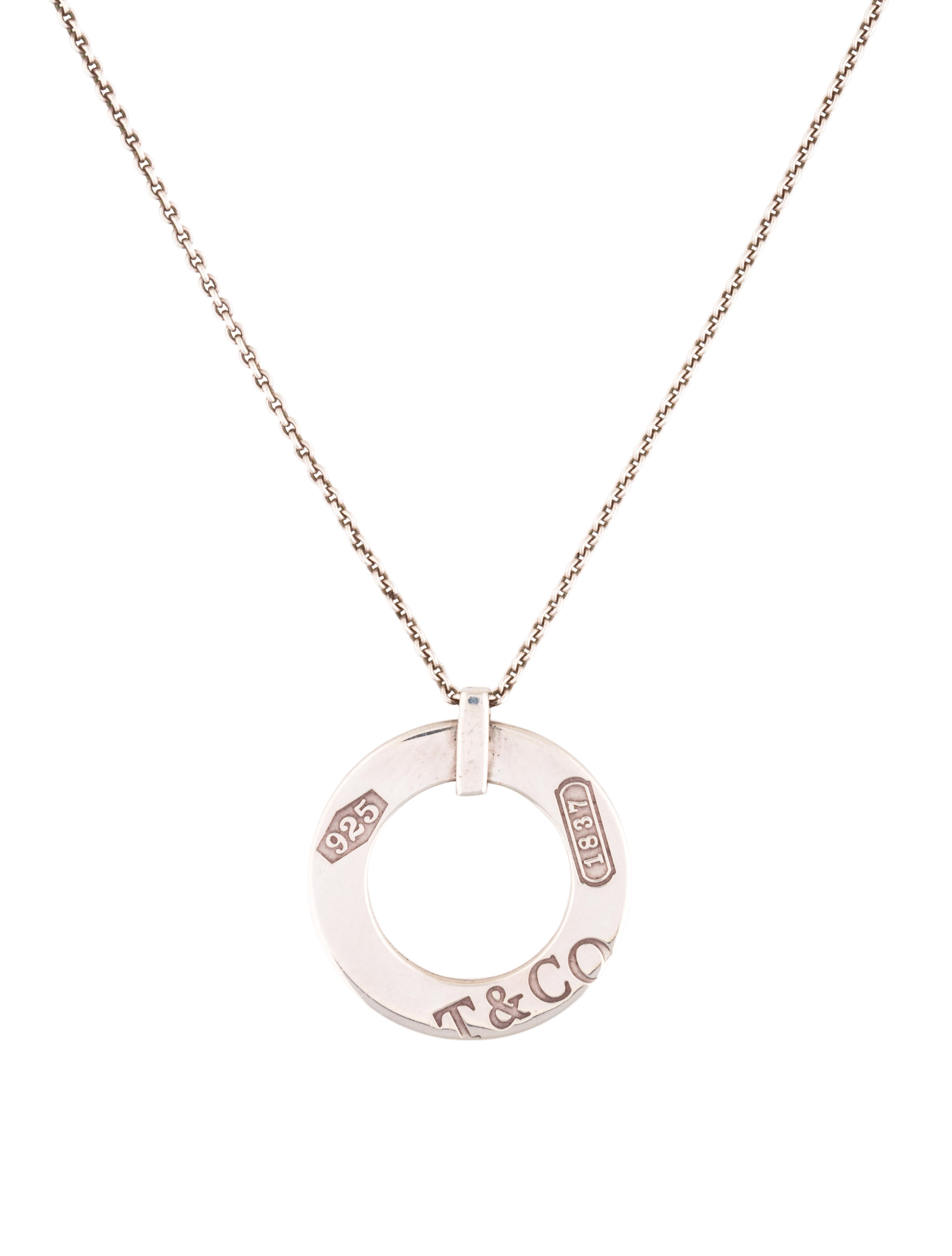 co 1837 open circle pendant necklace