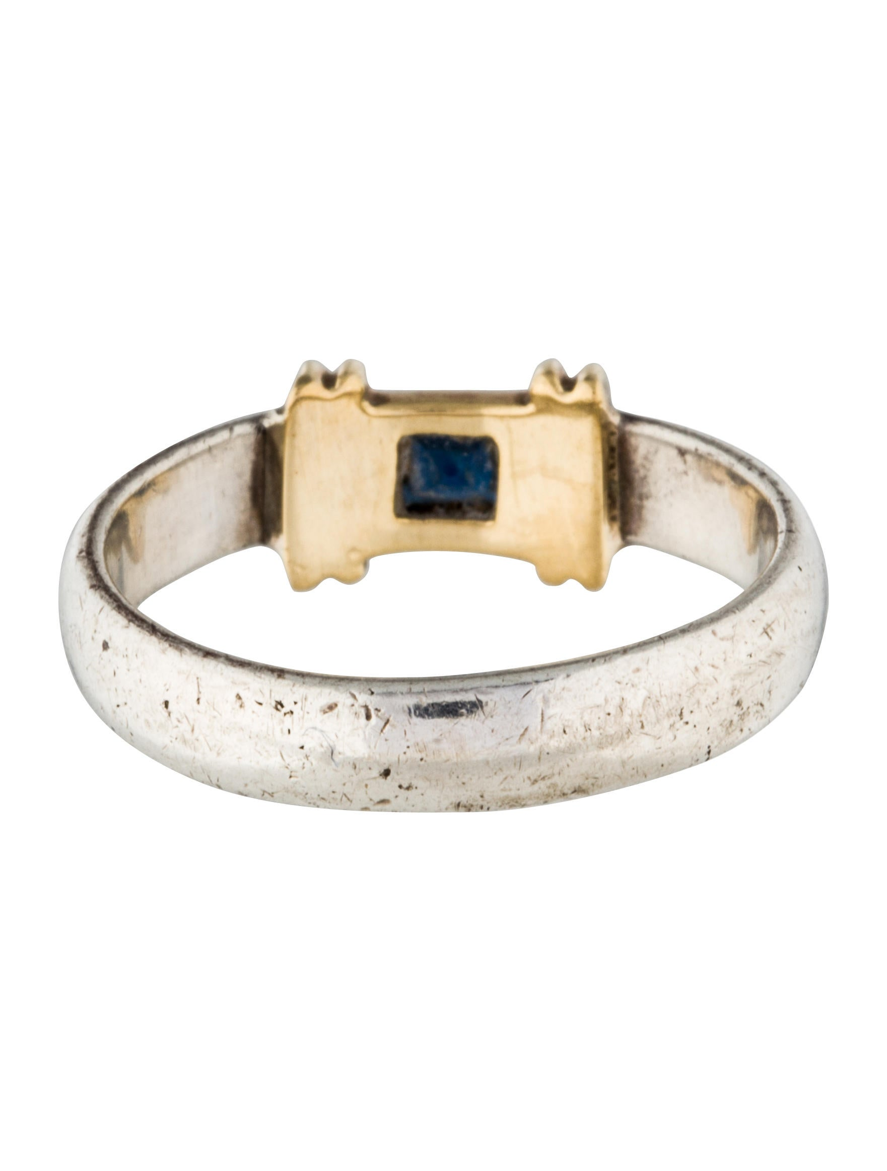 Tiffany & Co. Two-Tone Sapphire Ring - Rings