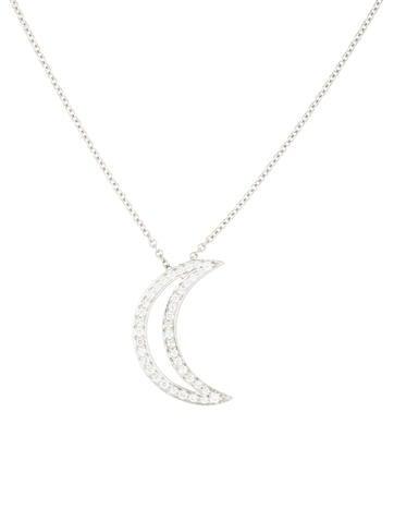 Tiffany co platinum diamond moon pendant necklace necklaces platinum diamond moon pendant necklace aloadofball Image collections