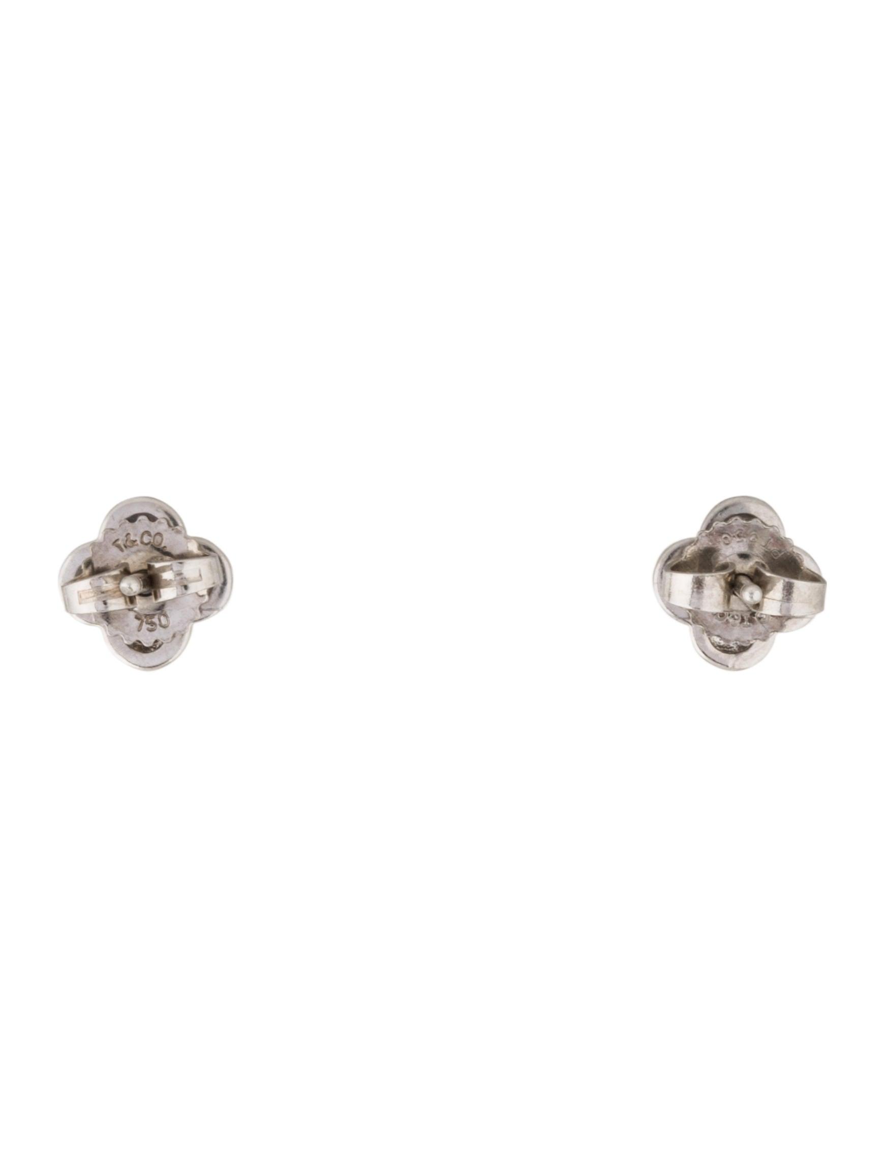 Tiffany Amp Co Diamond Cluster Stud Earrings Earrings