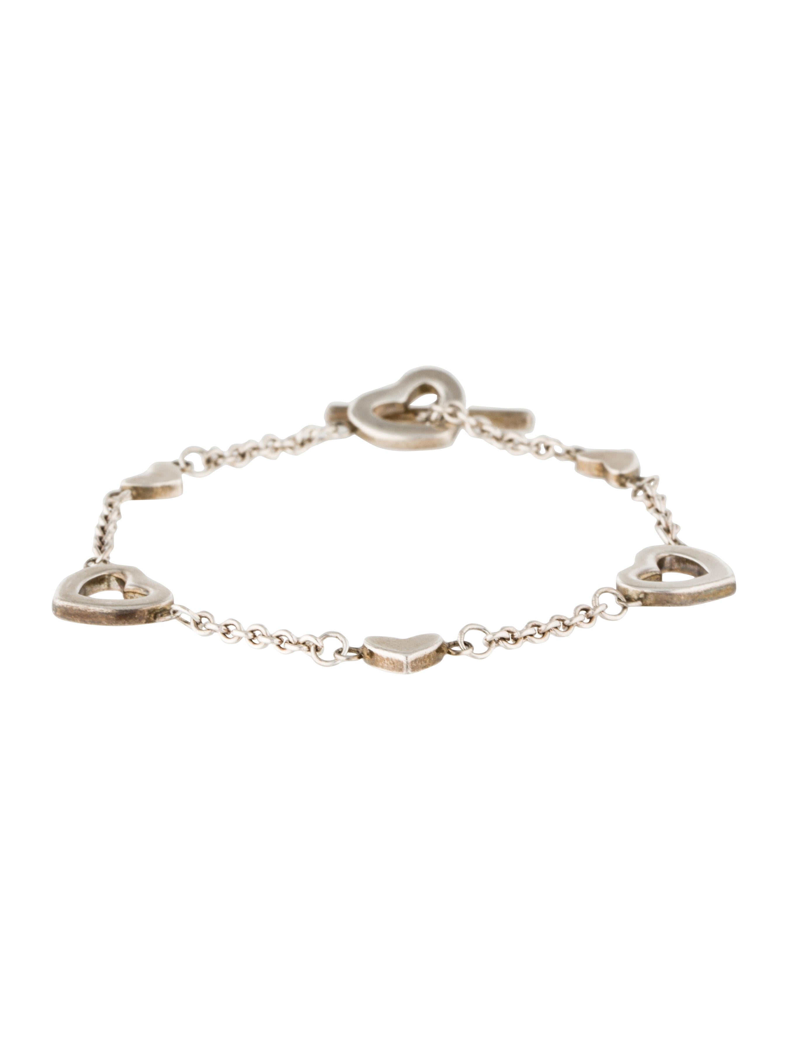 Tiffany Amp Co Open Heart Charm Bracelet Bracelets