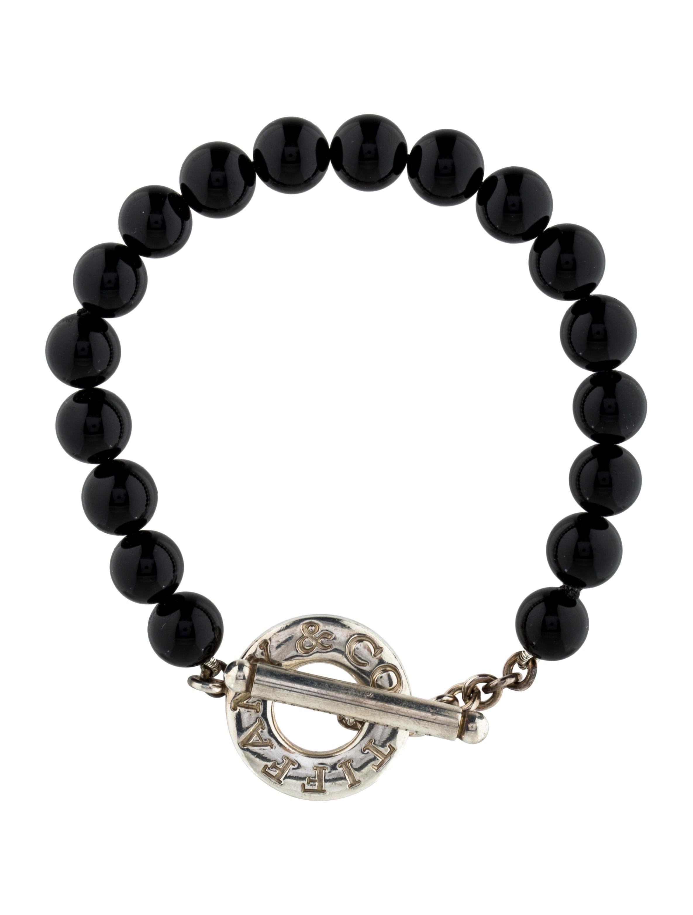 co onyx beaded toggle bracelet bracelets
