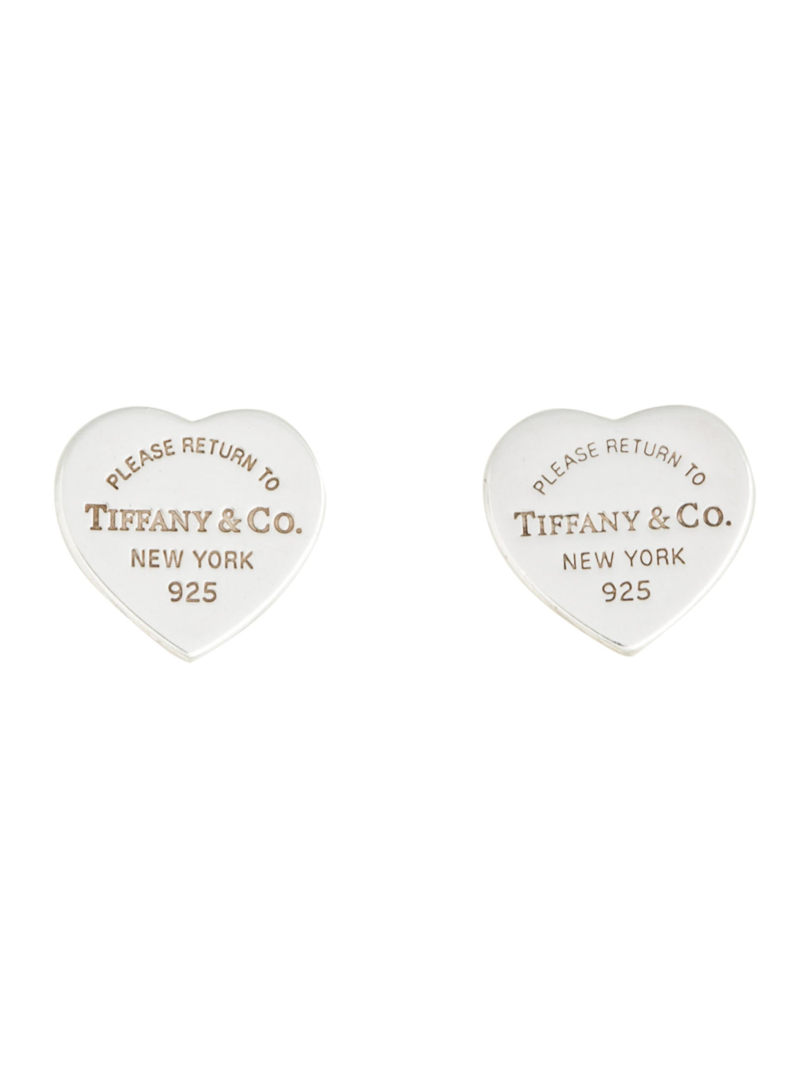 03e8331b3 Tiffany & Co. Mini Heart Tag Earrings - Earrings - TIF52555 | The RealReal