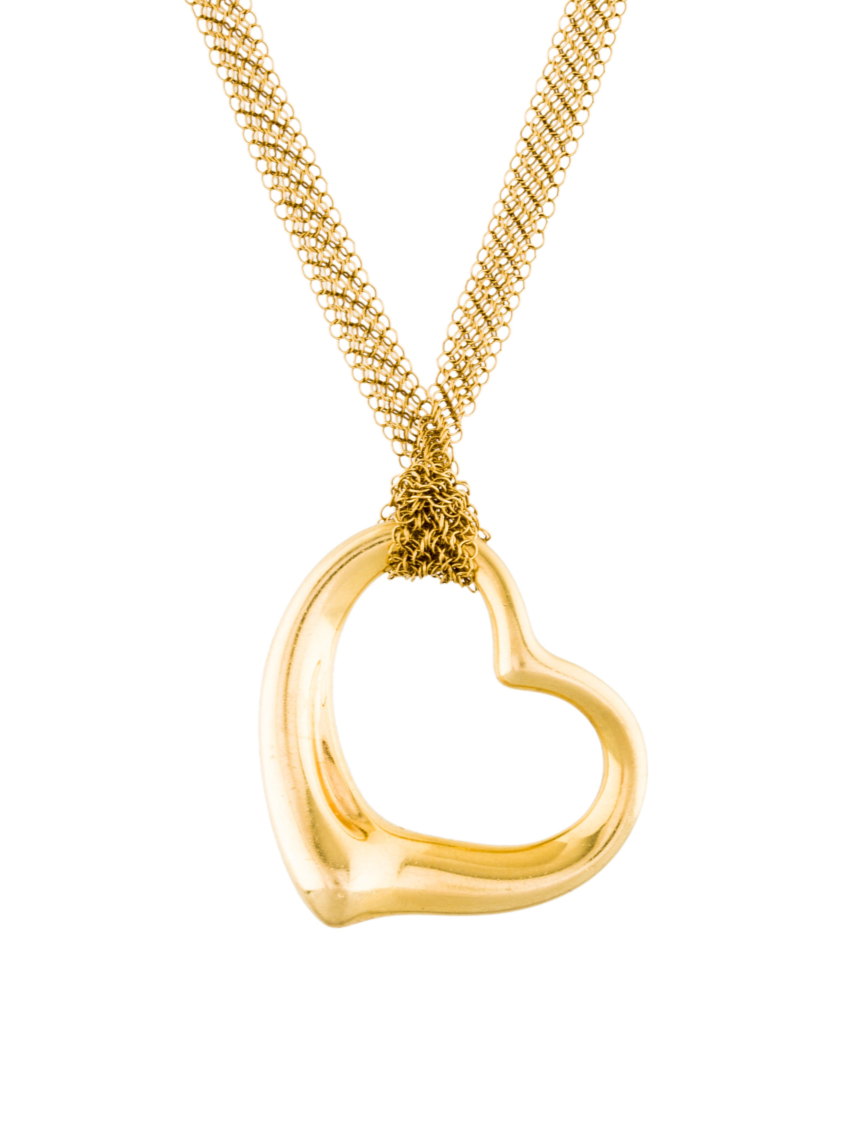 pendant heart necklace ti zirconia cubic products open sento