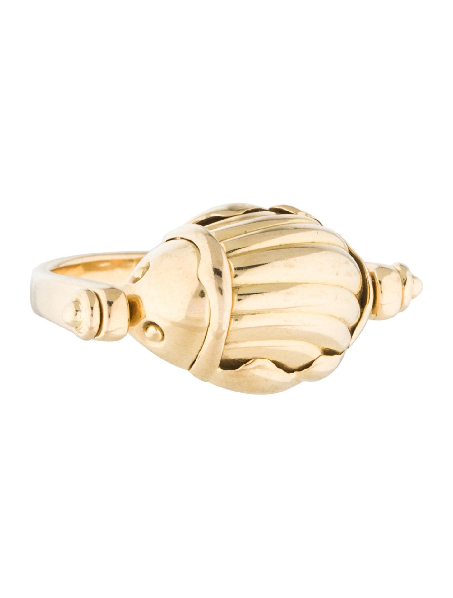 K Gold Scarab Ring