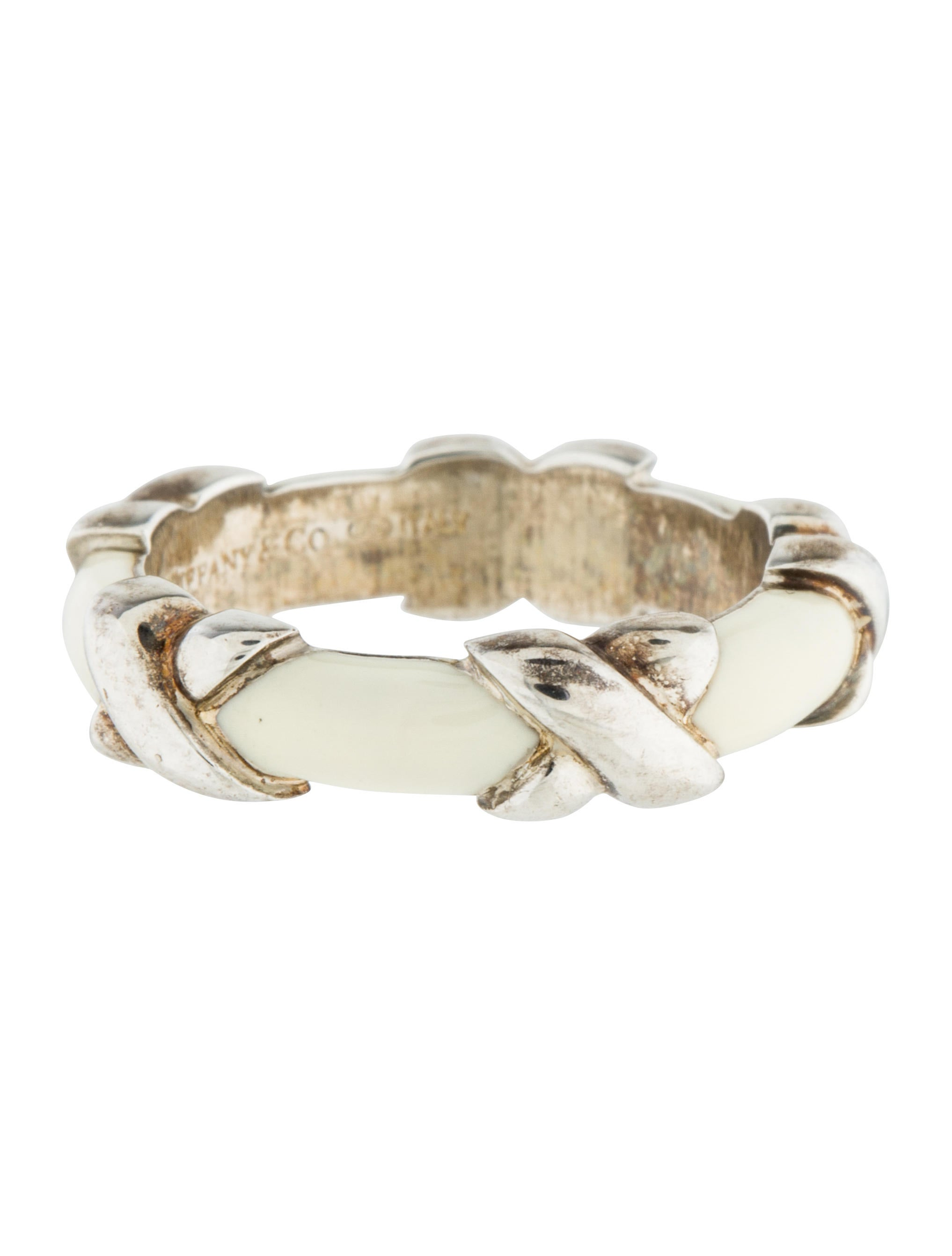 Tiffany Amp Co Enamel X Band Ring Rings Tif53170 The