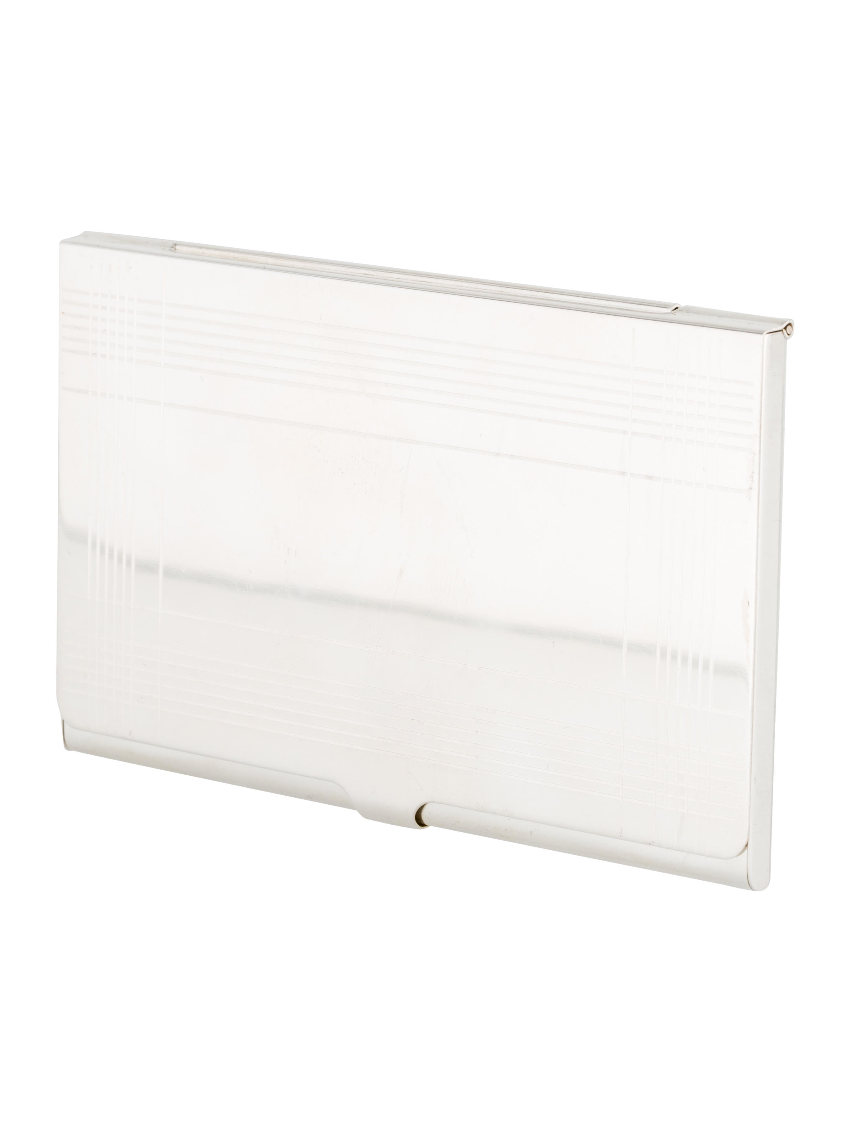 Tiffany co sterling business card holder decor and for Tiffany business card case
