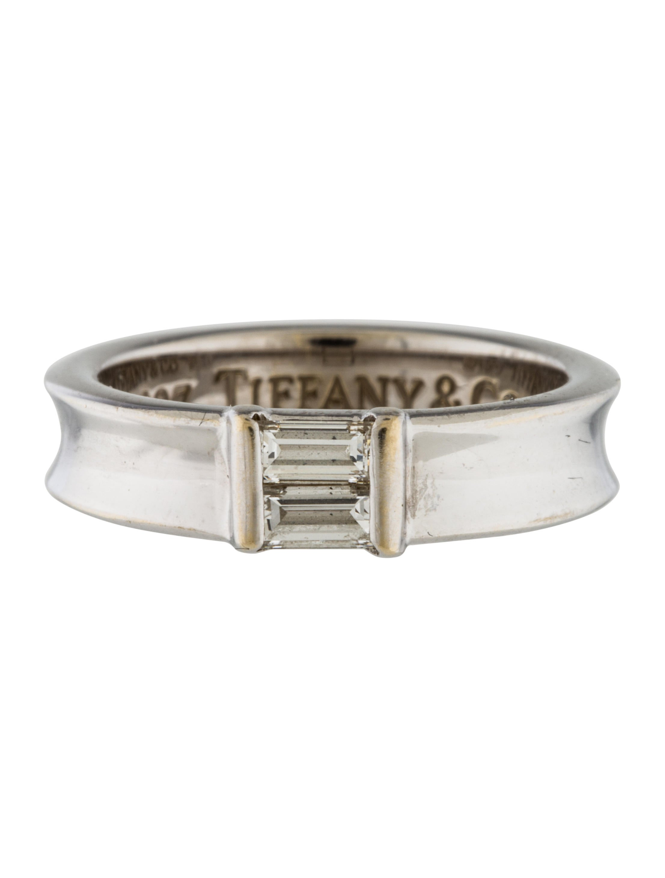 tiffany co 18k diamond stackable ring rings. Black Bedroom Furniture Sets. Home Design Ideas