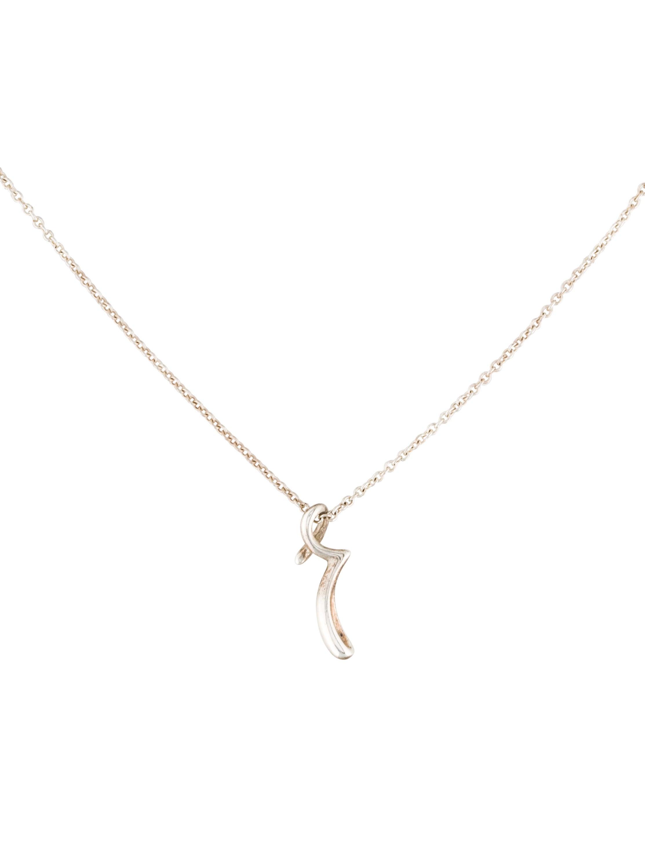 tiffany co letter 39r39 pendant necklace necklaces With letter r pendant necklace
