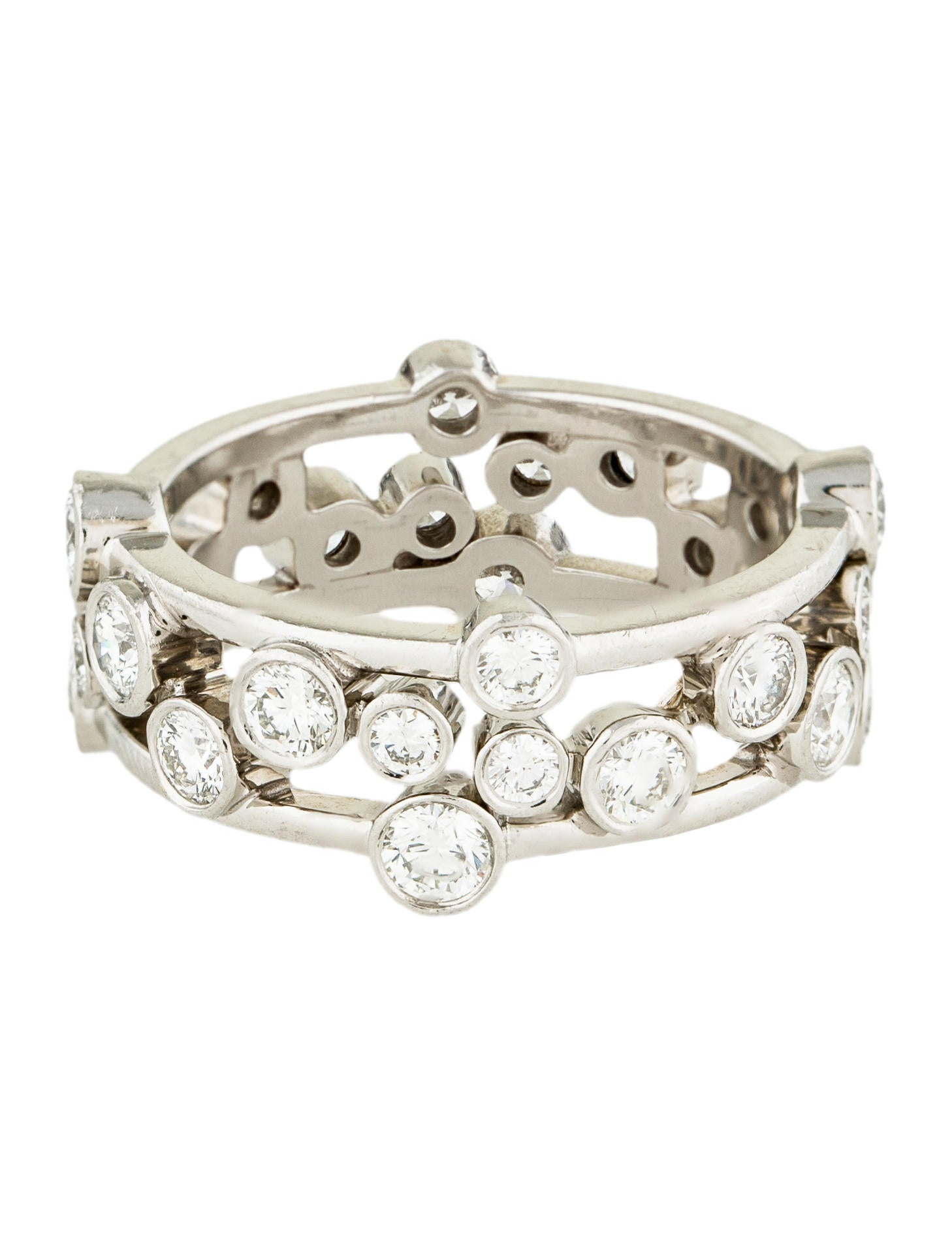 317fa4ba9 Tiffany & Co. Platinum Diamond Bubbles Ring - Rings - TIF54208   The ...