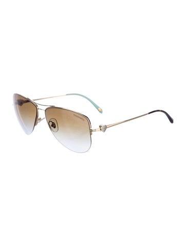 8311e9f9377 Tiffany   Co 3021 Classic Heart Aviator Sunglasses