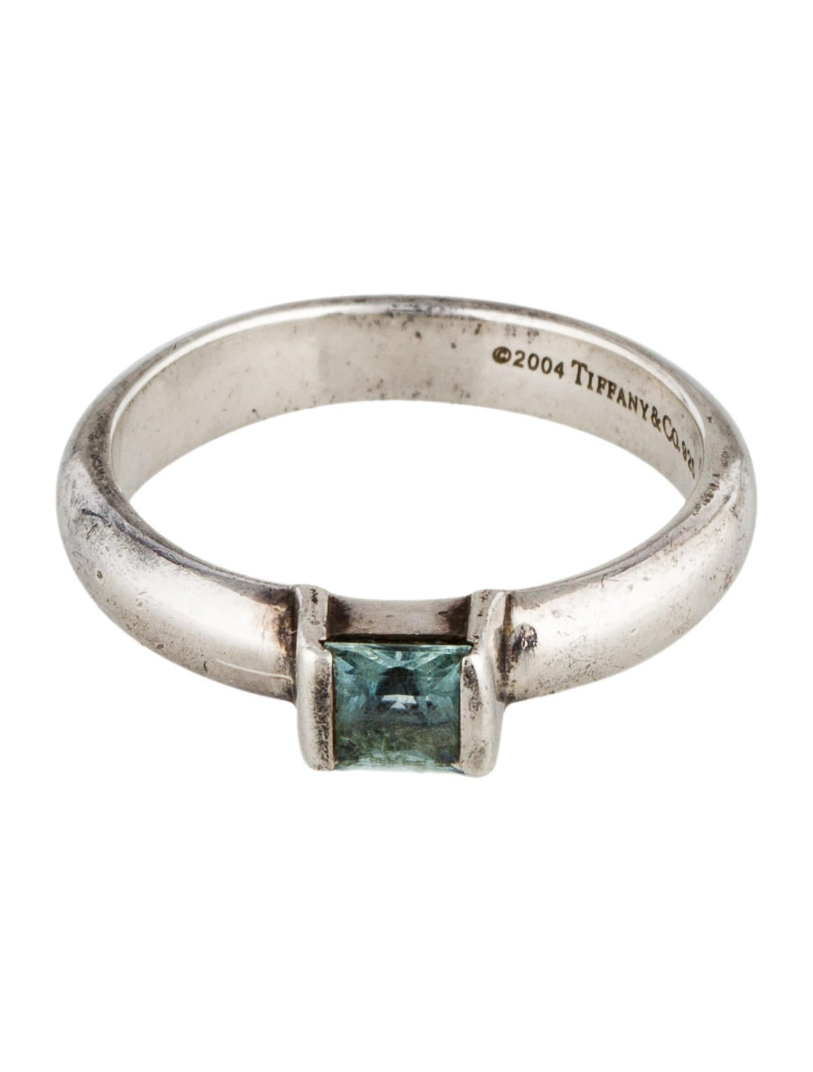 Tiffany And Co Square Silver Ring