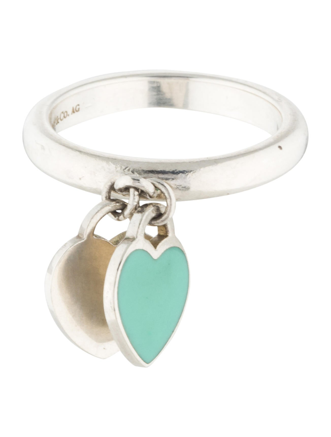 Tiffany co mini double heart ring rings tif54358 for Heart ring box