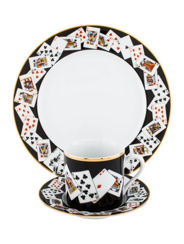 Tiffany & Co. 18-Piece Playing Cards Dessert Setting None