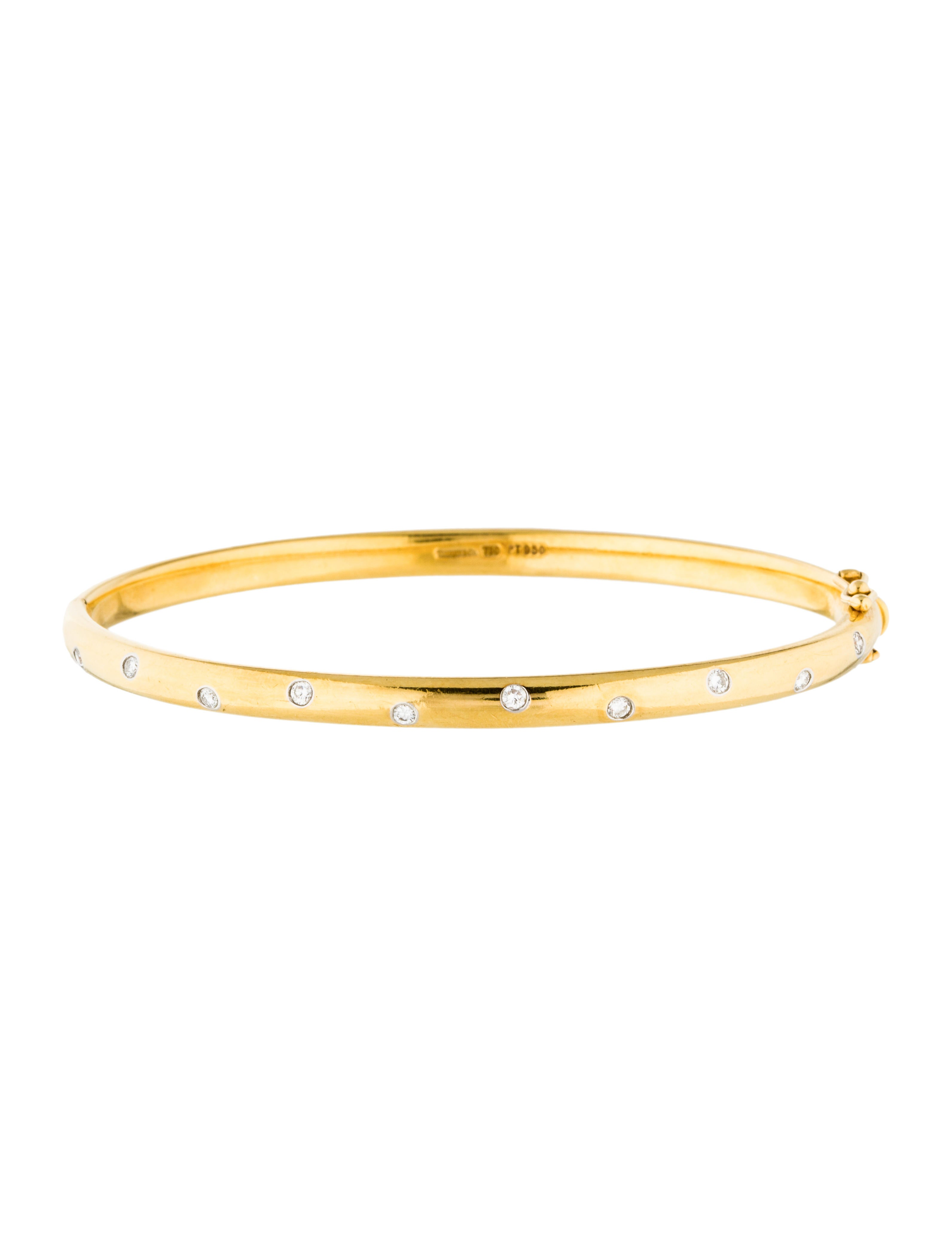 tiffany co diamond etoile bangle bracelets tif54671. Black Bedroom Furniture Sets. Home Design Ideas