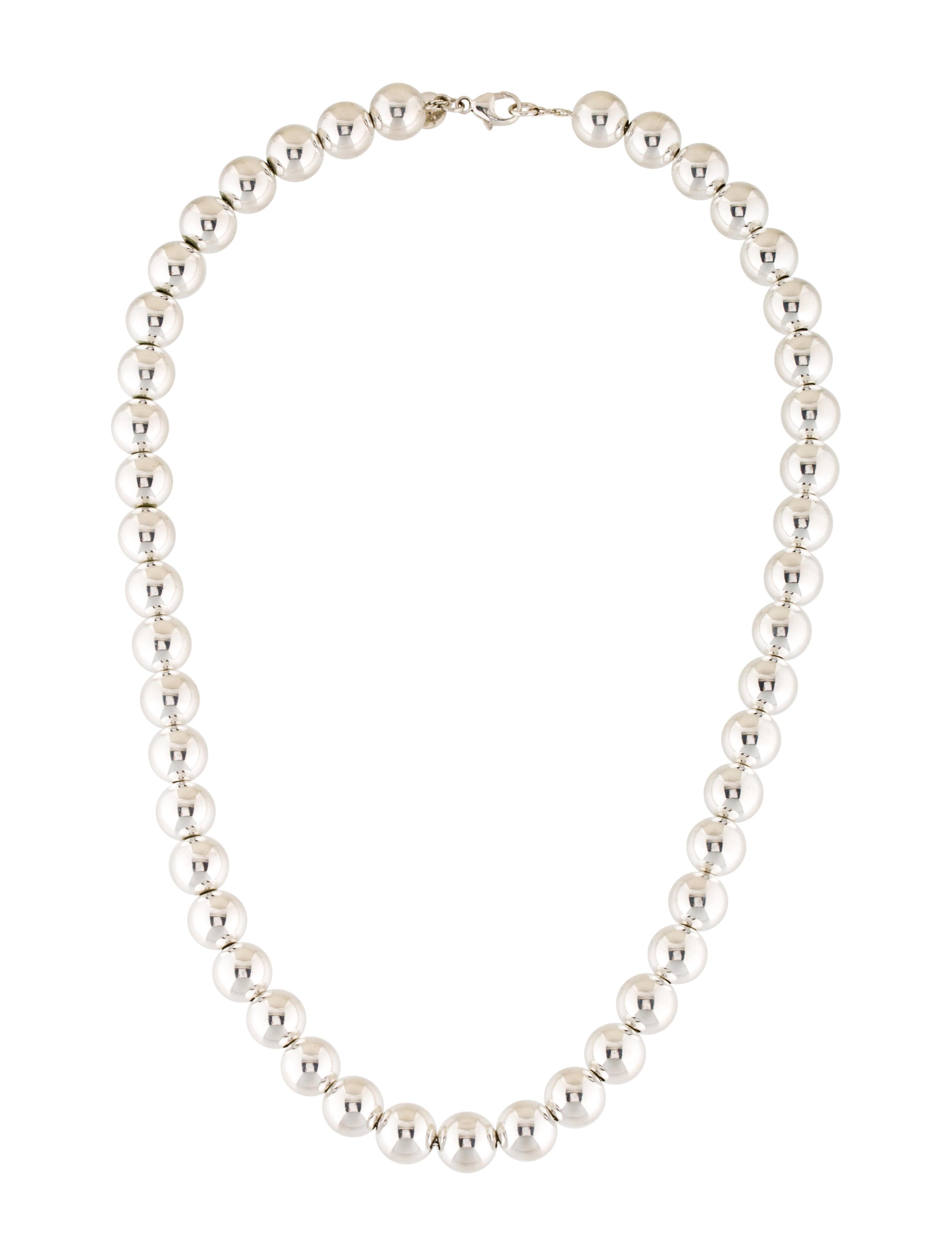 co silver bead necklace necklaces tif54677