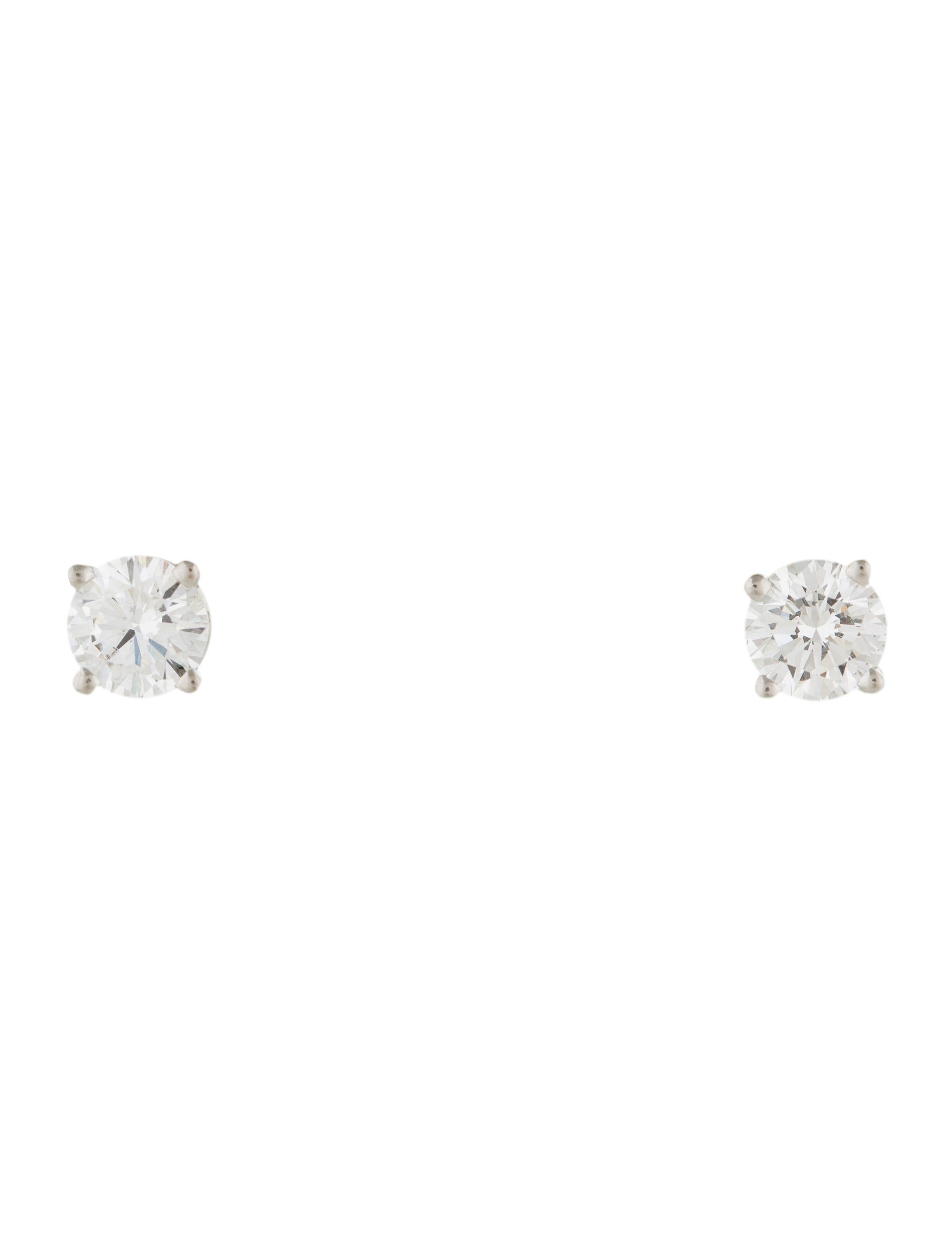 product stud diamond with setting silver sterling solitaire look plated carataire in optics en earring claw earrings rhodium