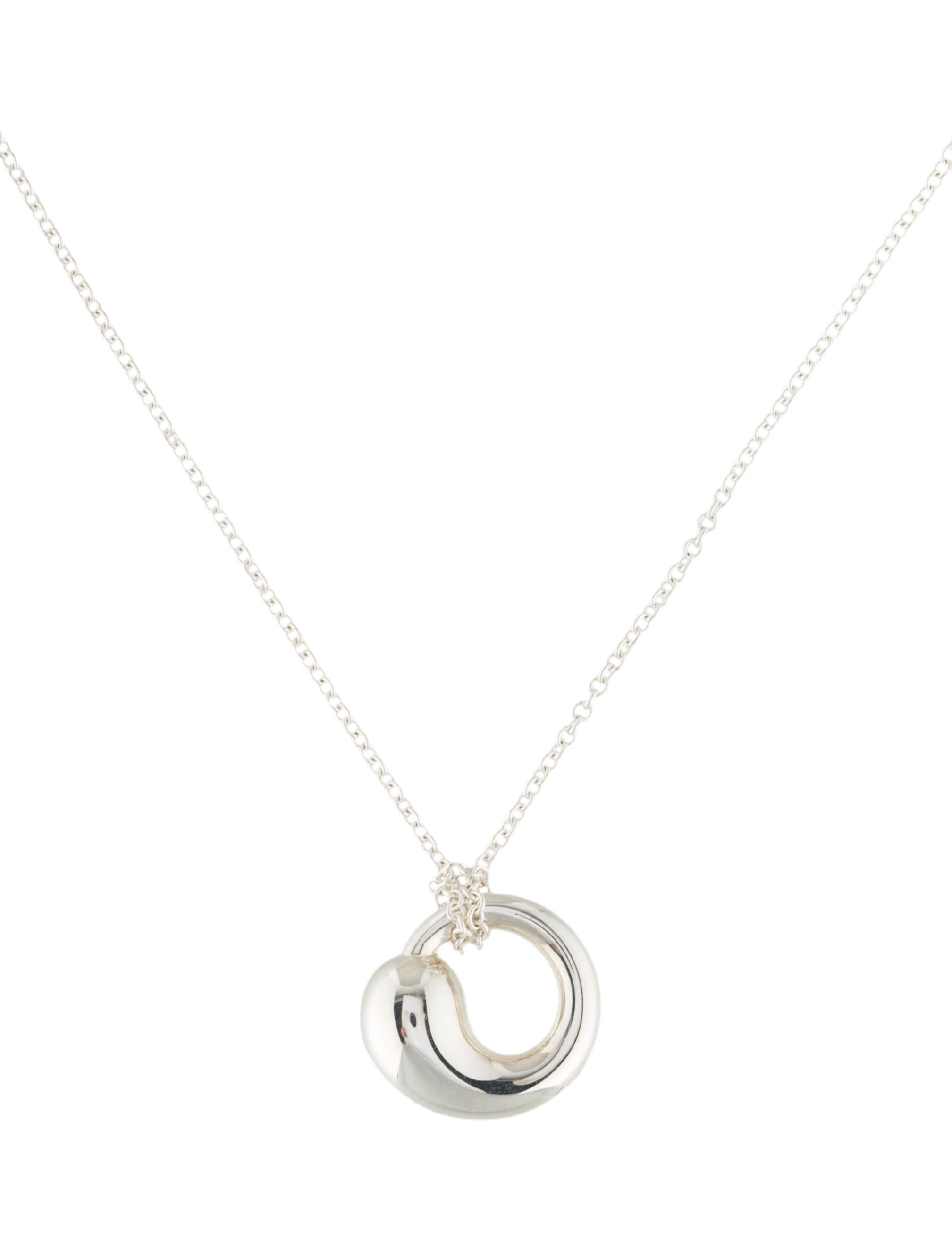 Tiffany co eternal circle pendant necklace necklaces tif55073 eternal circle pendant necklace aloadofball Images