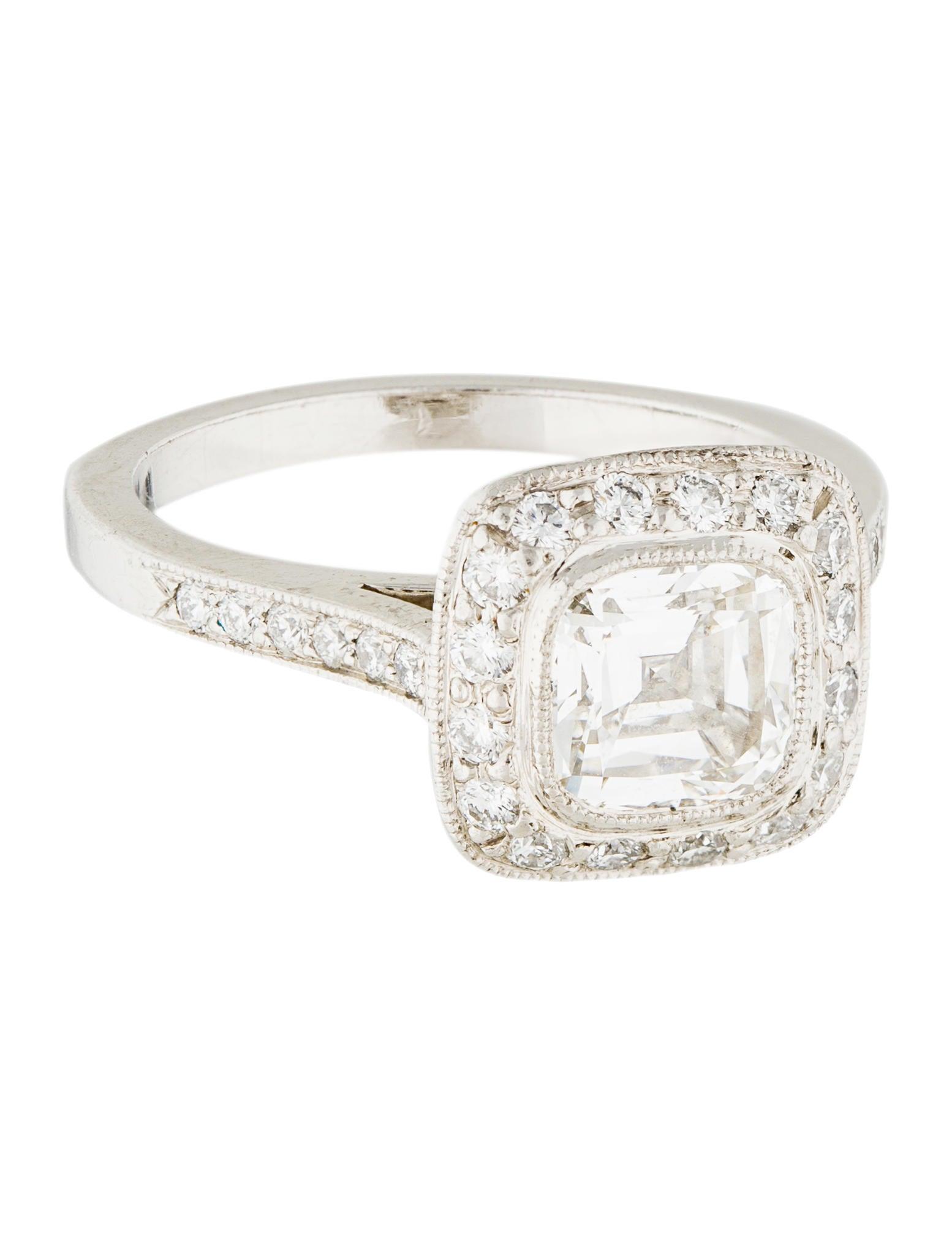 Tiffany Amp Co Platinum Legacy Cushion Diamond Engagement