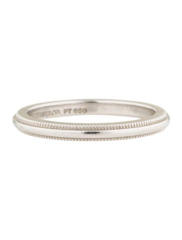 Tiffany Co Tiffany Co Platinum Milgrain Wedding Band Rings