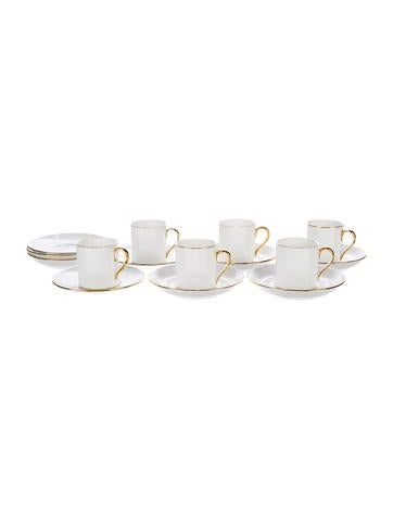 Tiffany & Co. 15-Piece Tiffany Cup & Saucer Set None