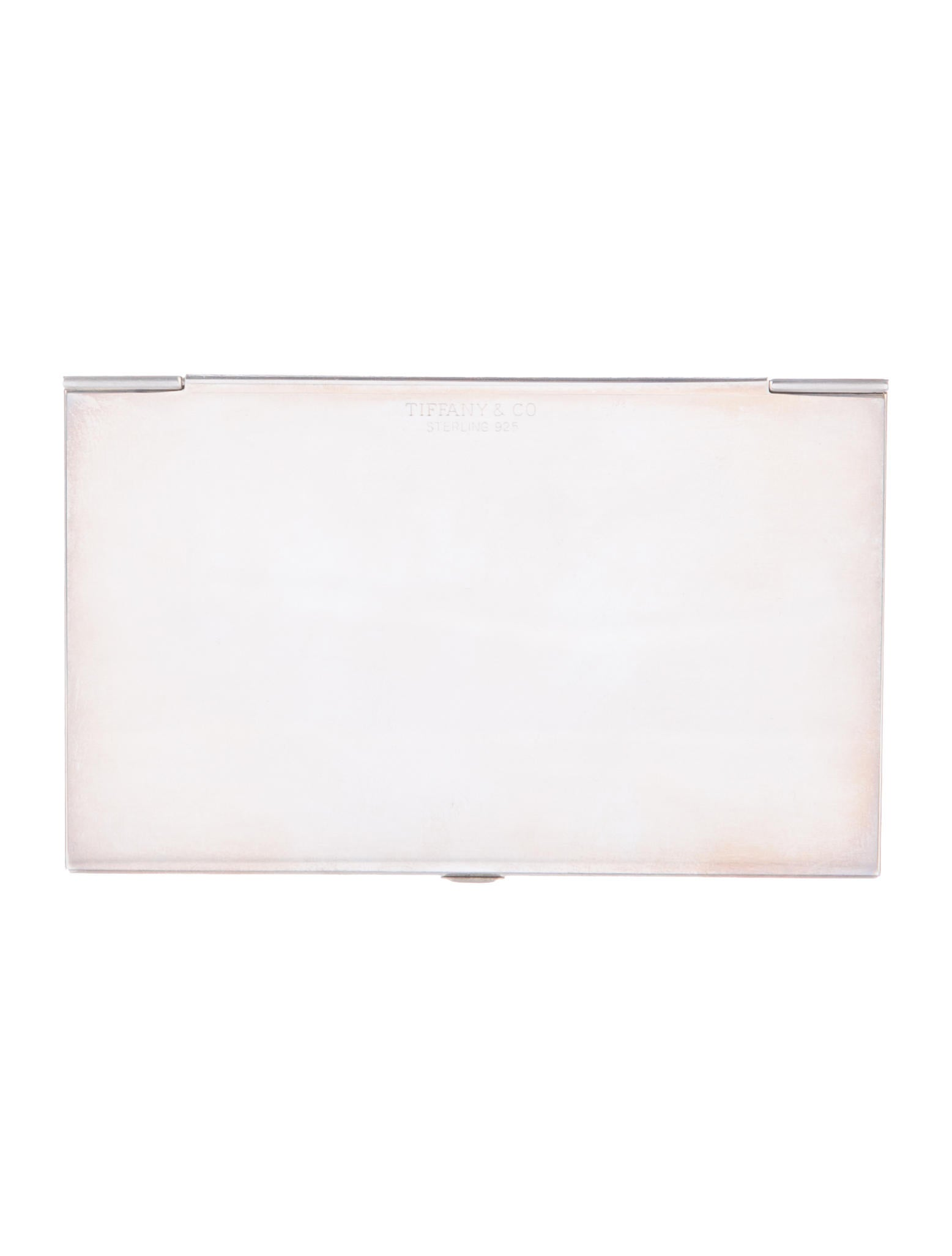 Tiffany & Co. Sterling Business Card Holder - Accessories - TIF56186 ...