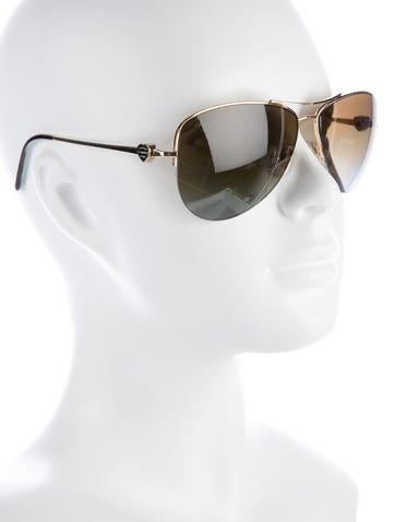 c86442a4229 Return To Tiffany Aviator Sunglasses. grey Plain Metal TIFFANY   CO ...