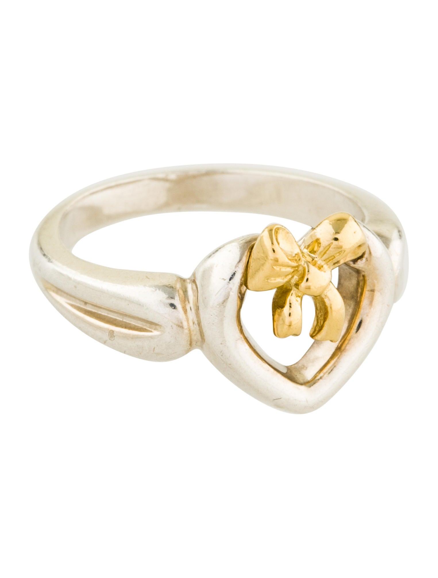 Ring Bow Il Gioiello Personalizzabile Con La Tua Nailart: Tiffany & Co. Two-Tone Heart Bow Ring