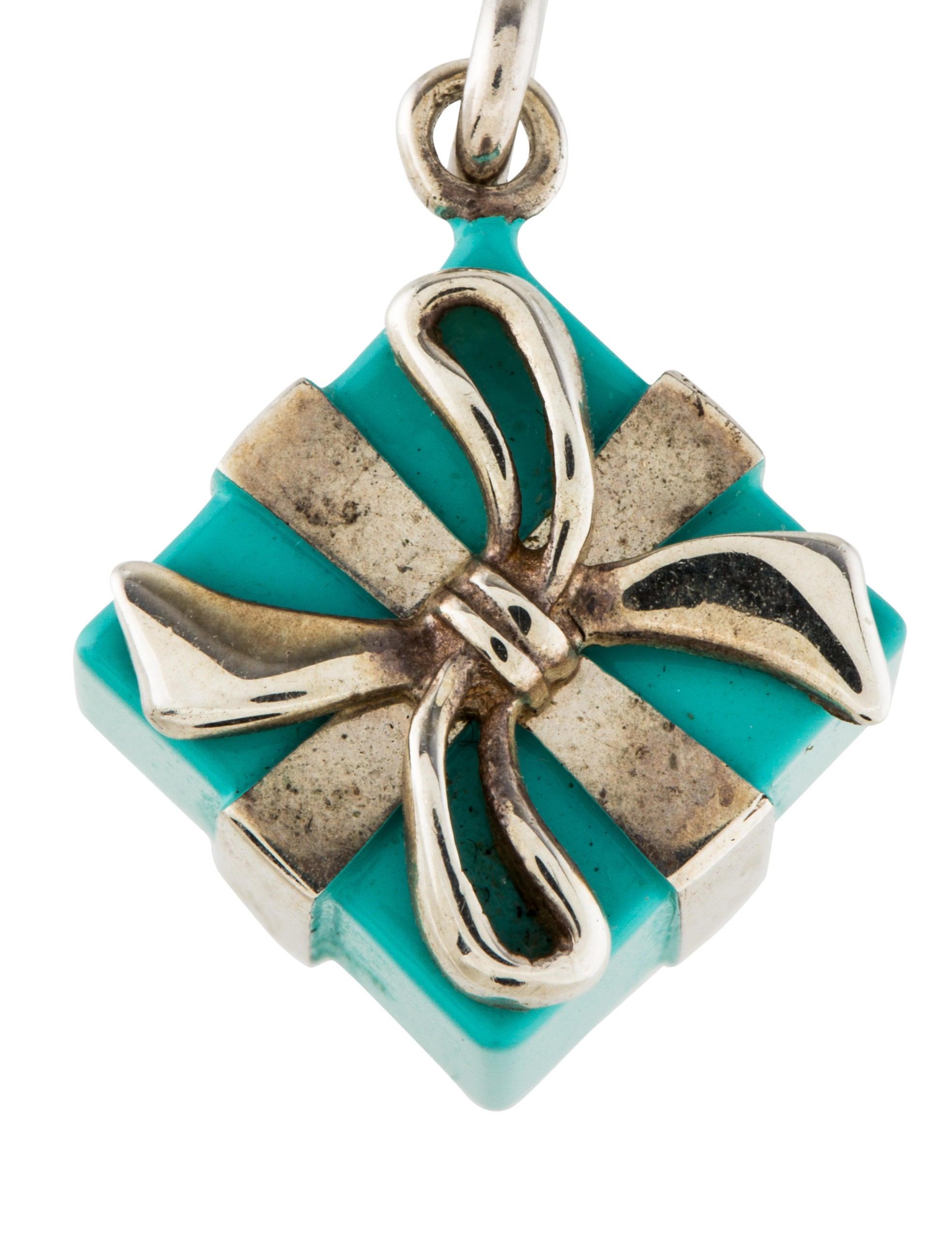 co blue box charm necklaces