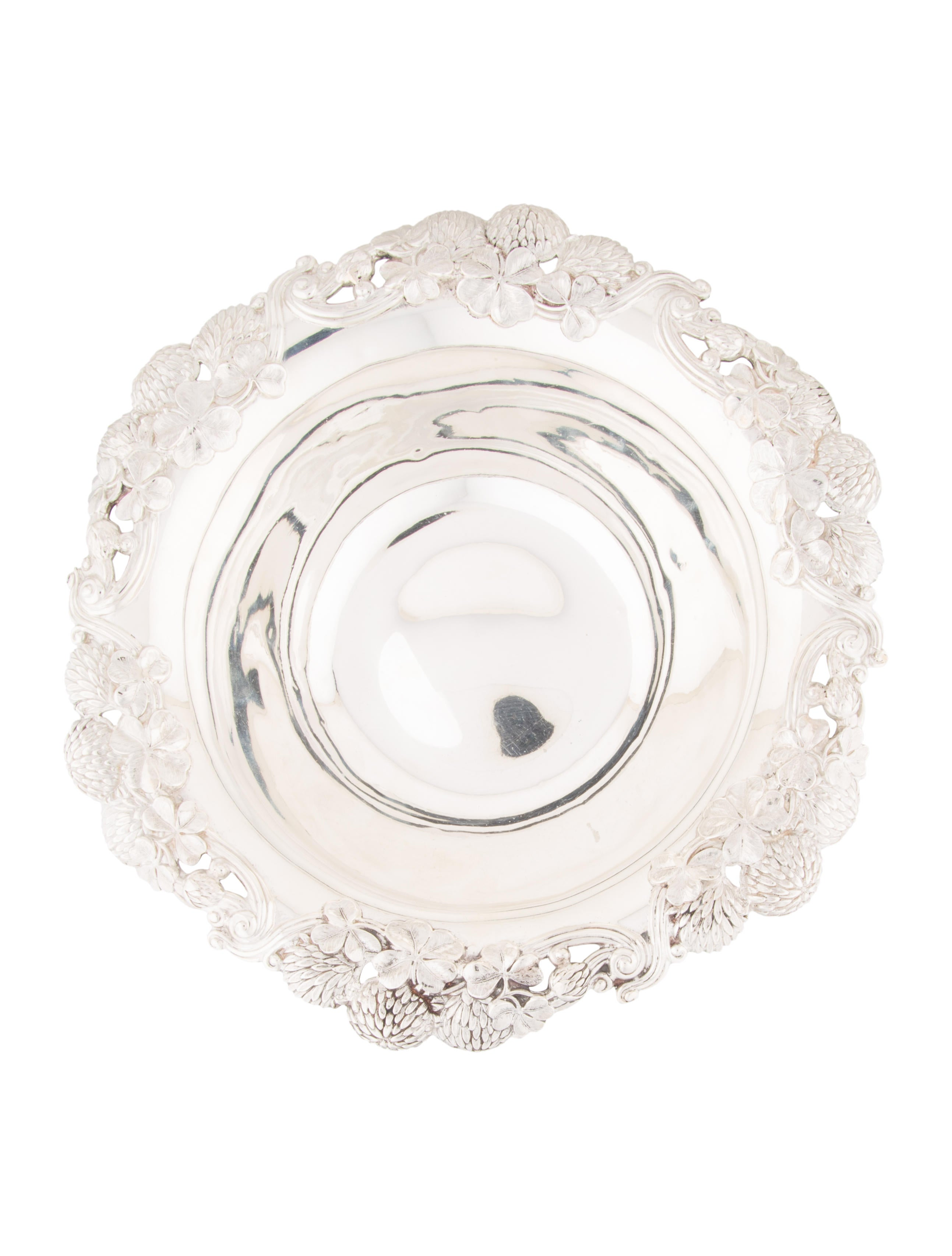 Tiffany co antique clover bowl decor and accessories for Artistic accents genuine silver decoration