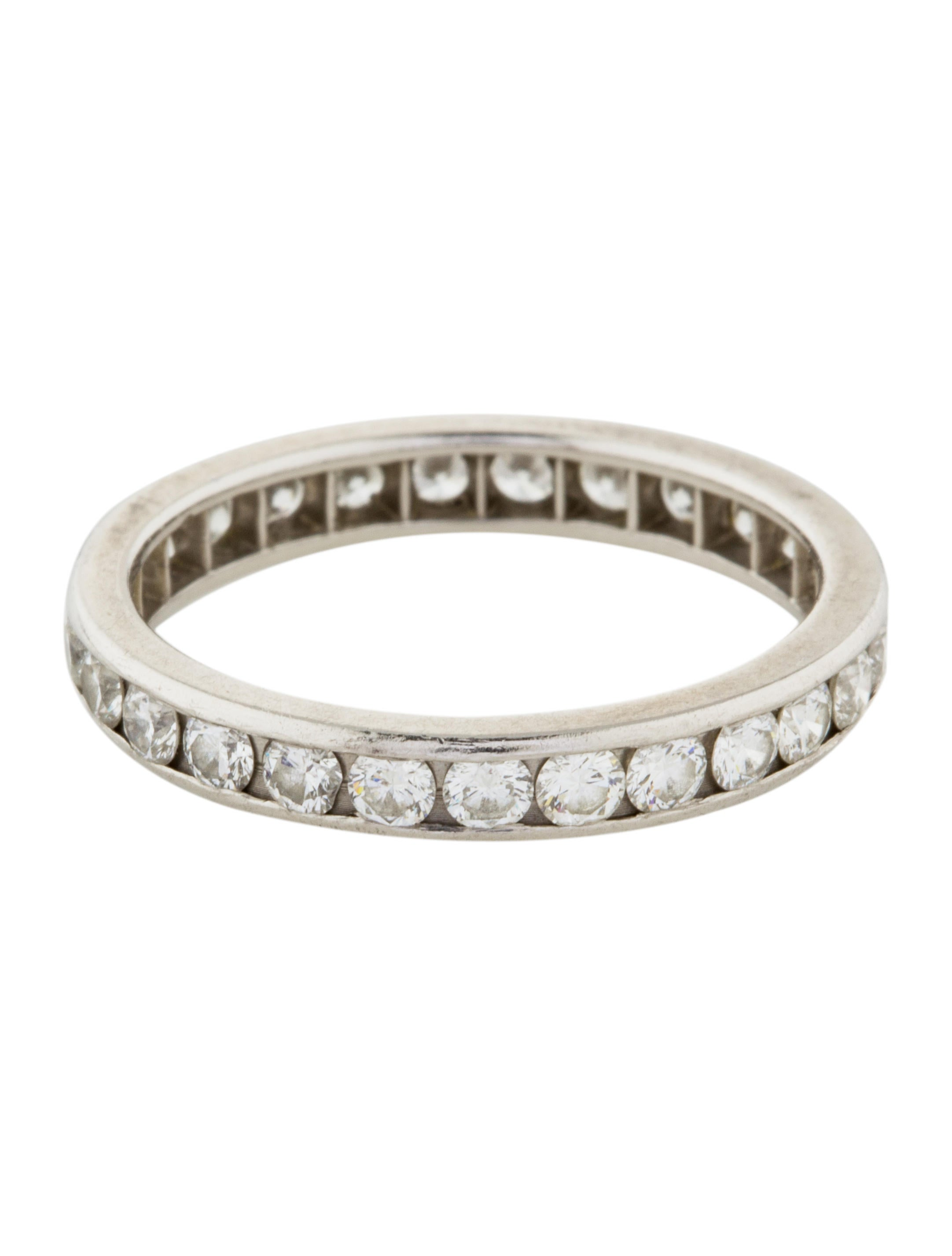 co platinum eternity band rings
