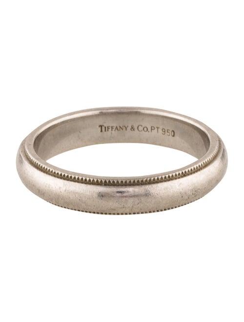 913558066 Tiffany & Co. Platinum Milgrain Wedding Band - Rings - TIF56574 ...