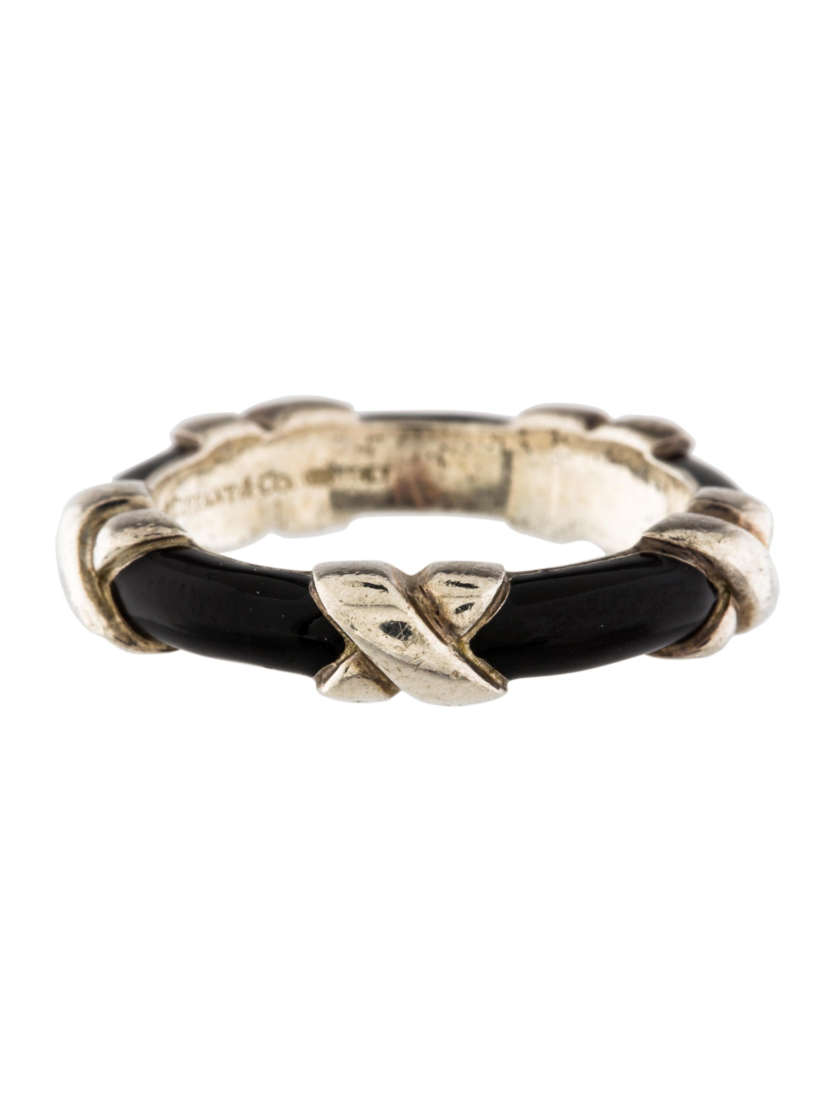 Tiffany Amp Co Enamel X Band Ring Rings Tif56629 The